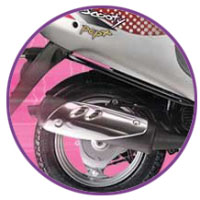 TVS Scooty Pep+ Silencer View