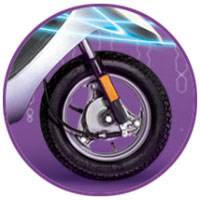 TVS Scooty Pep+ wheels and tyre view Picture