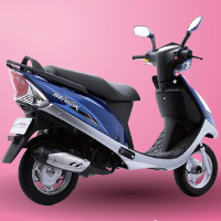 TVS Scooty Streak Rear Cross Side View