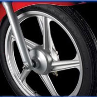 TVS Star Sport Wheels And Tyre View