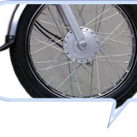 TVS Star  Wheels And Tyre View