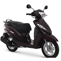 TVS Wego Front Cross Side View