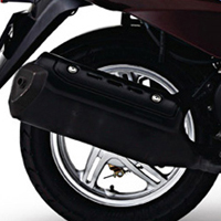 TVS Wego Silencer View