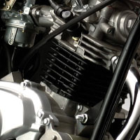 Yamaha ALBA Alloy Engine View
