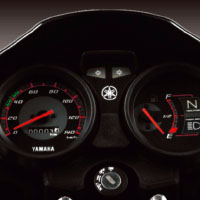 Yamaha ALBA Alloy Speedometer View