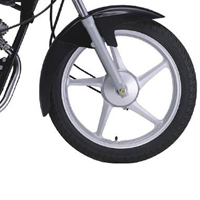 Yamaha ALBA Spoke Disk Brake And Wheels View
