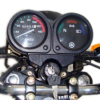 Yamaha Crux speedometer view Picture