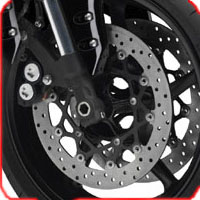 Yamaha FZ 1 disk brake view Picture