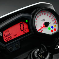Yamaha FZ 1 speedometer view Picture