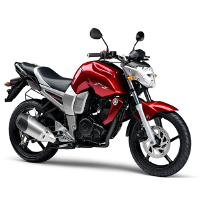 Yamaha FZ16 Front Cross Side View