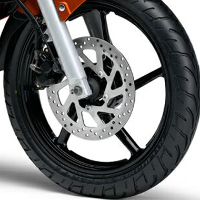 Yamaha FZ16 Wheels And Tyre View
