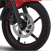 Yamaha FZS Wheels And Tyre View
