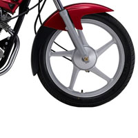 Yamaha G5 Spoke Disk Brake And Wheels View