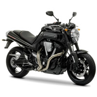 Yamaha MT01 Front Cross Side View