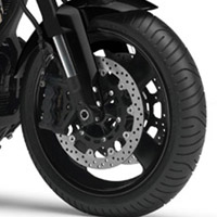 Yamaha MT01 wheels and tyre view Picture