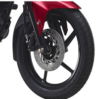 Yamaha SZ R wheels and tyre view Picture