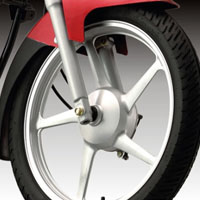 Yamaha YBR Wheels And Tyre View