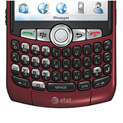 Blackberry Curve 8320 Keyboard View