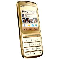 Nokia C3 01 Gold Edition Side Angle View